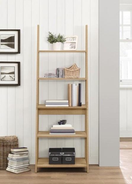 simple living bookshelf nordic modern simple ladder bookcase oak wooden storage