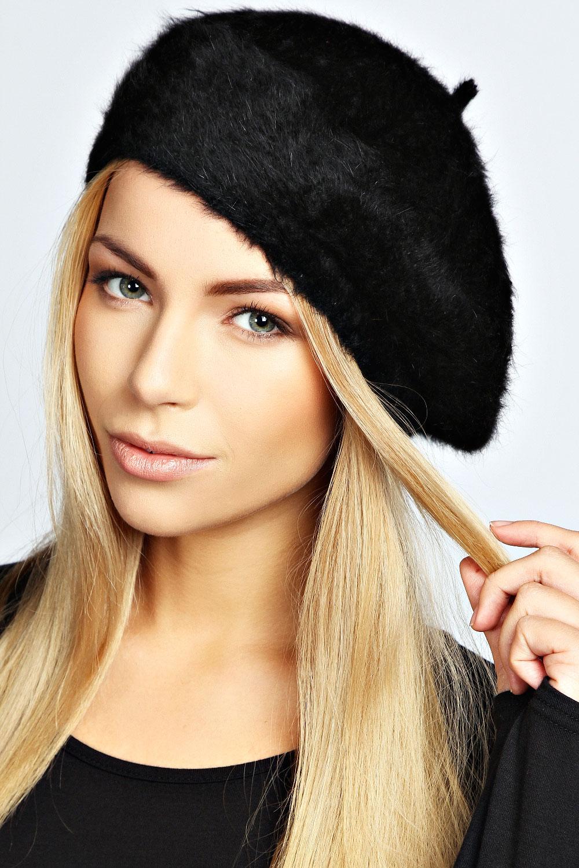 Boohoo Womens Ladies Matilda Fluffy Beret Hat One Size  df76bc5865