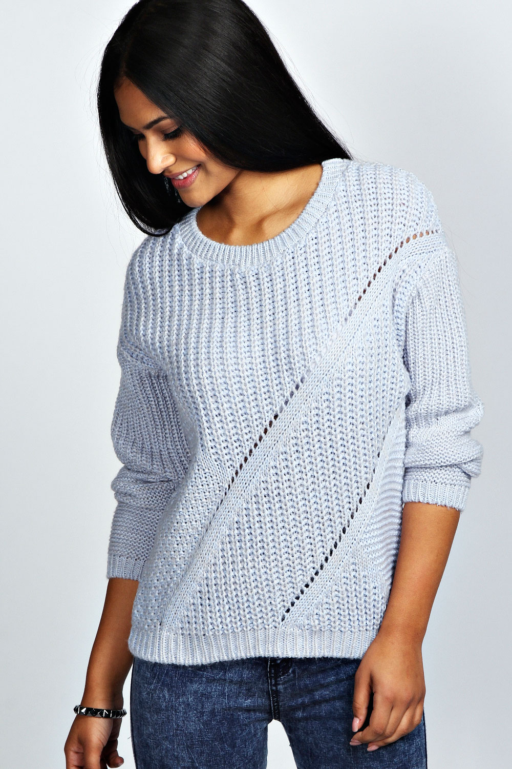 Boohoo-Womens-Ladies-Lily-Long-Sleeve-Chunky-Cable-Knit-Jumper