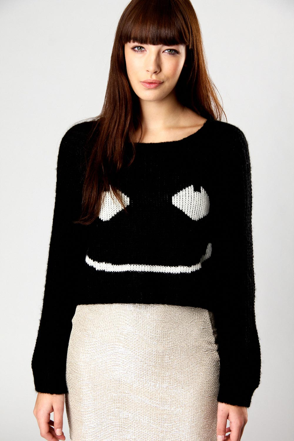 Boohoo-Mina-Cropped-Smiley-Face-Knit-Acrylic-Jumper-BNWT
