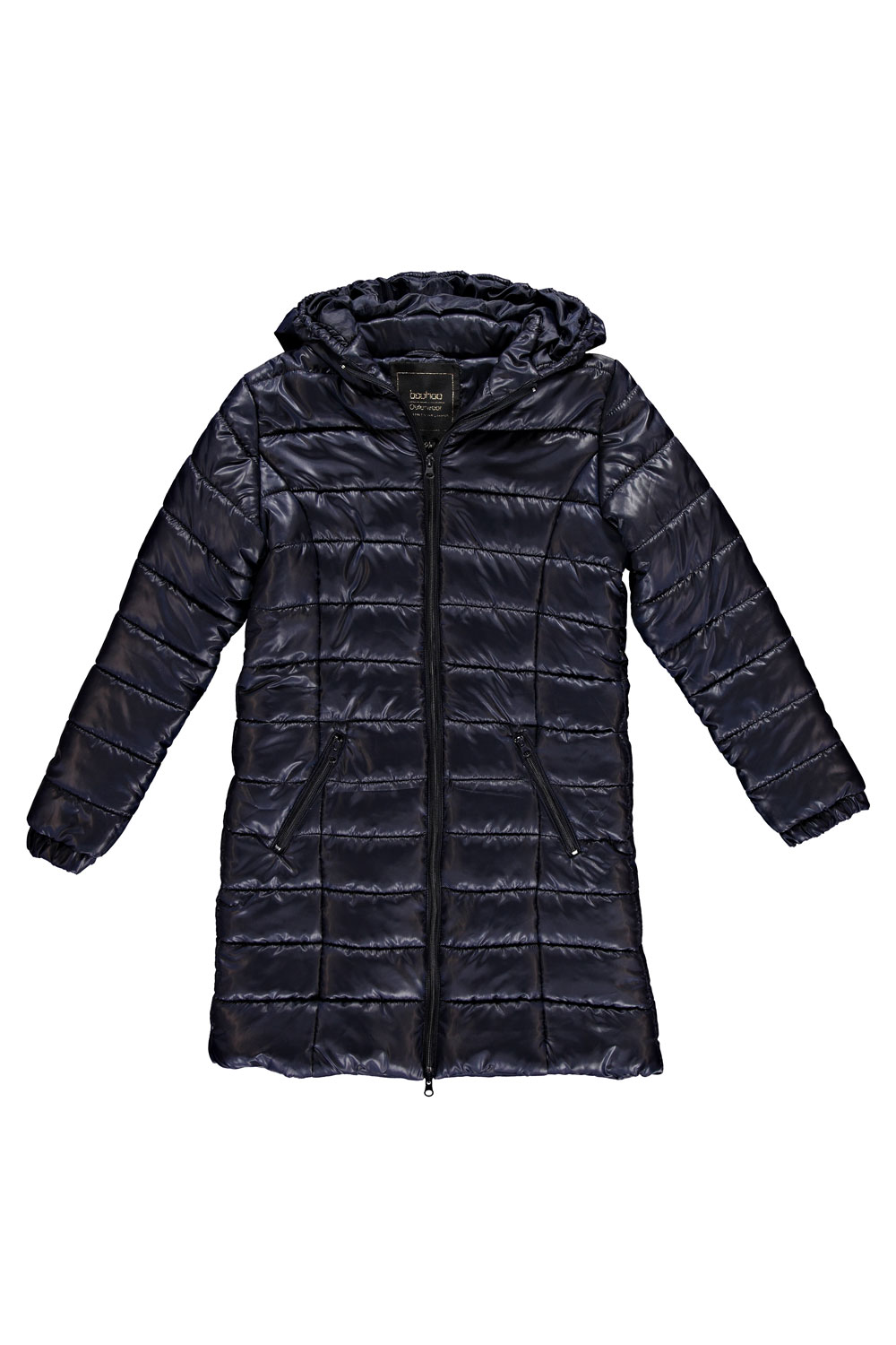 Boohoo Womens Karlie Wet Look Longline Puffer Coat Quilted Jacket ...