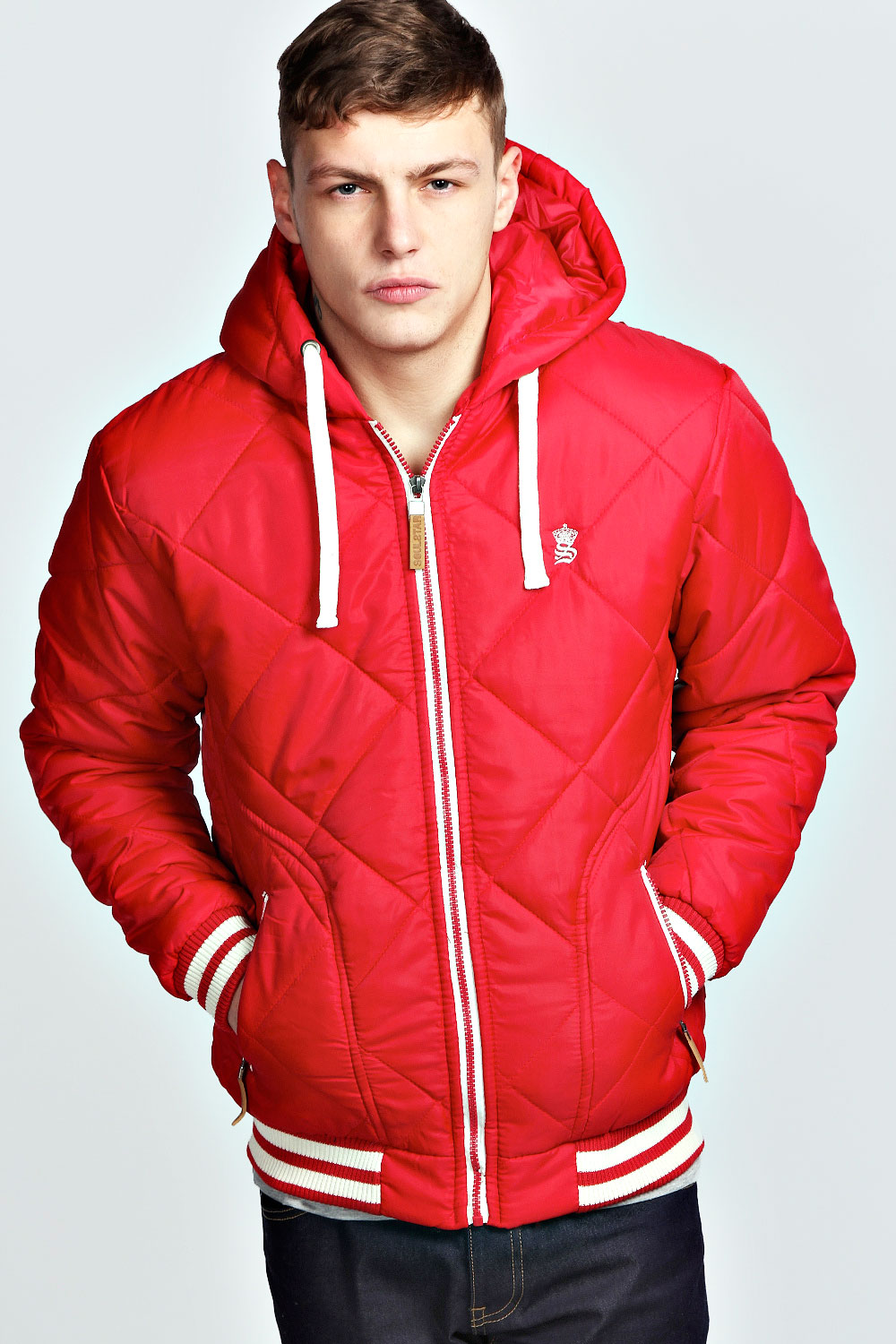 Boohoo-Mens-Quilted-Bomber-With-Hood-Jacket