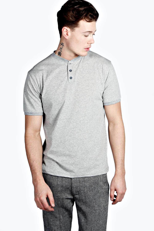 Boohoo mens casual plain 3 button placket short sleeve for Best short sleeve shirts