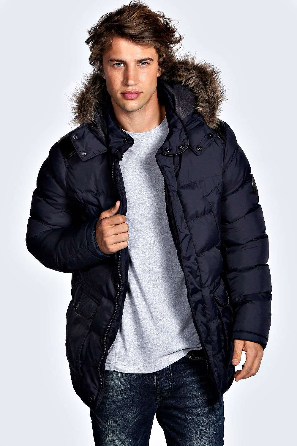 Mens Long Length Padded Winter Coats - Tradingbasis