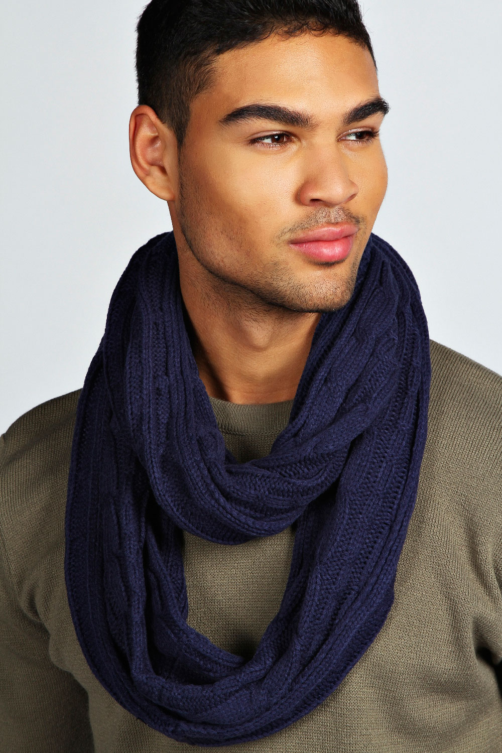 Boohoo-Mens-Cable-Snood-One-Size