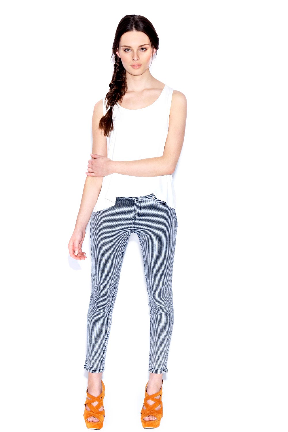 Boohoo-Tally-Stretch-Distressed-Striped-Skinny-Jeans-in-Blue