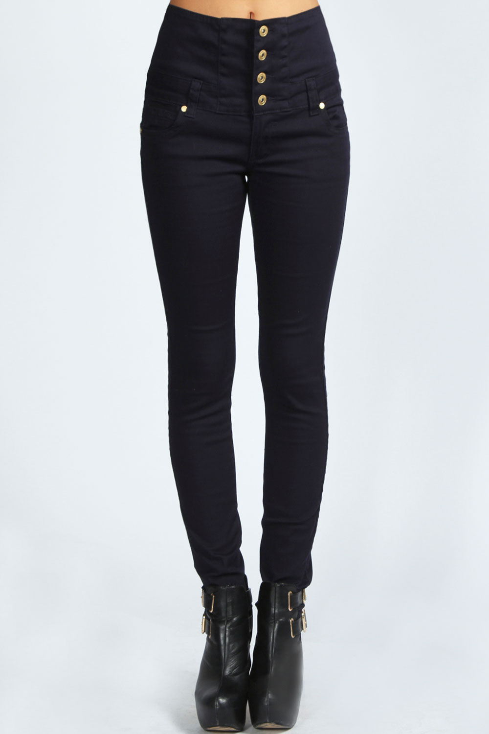 Boohoo Womens Ladies Sandra High Waisted Coloured Skinny Jeans | eBay