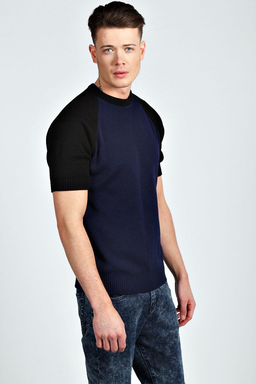Boohoo Mens Crew Neck Short Sleeve Raglan Jumper | eBay