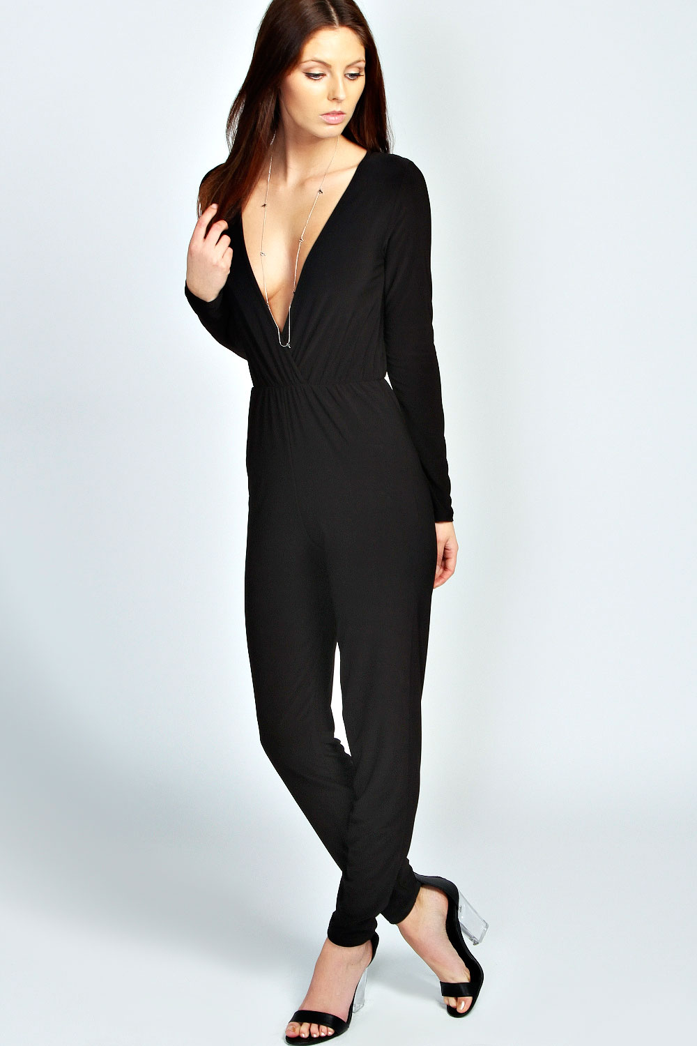 Wonderful Jumpsuits With Sleeves For Women Modern Woman Square Collar