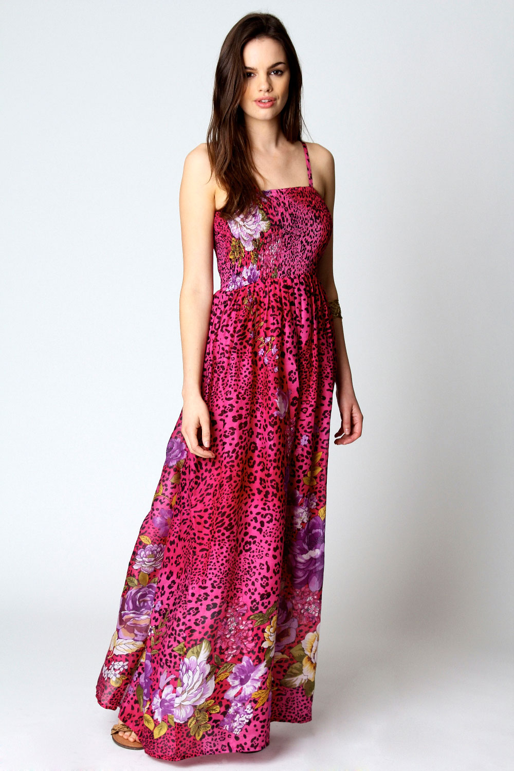 Boohoo-Wendy-Leopard-Flower-Print-Bandeau-Maxi-Dress-2-Colours