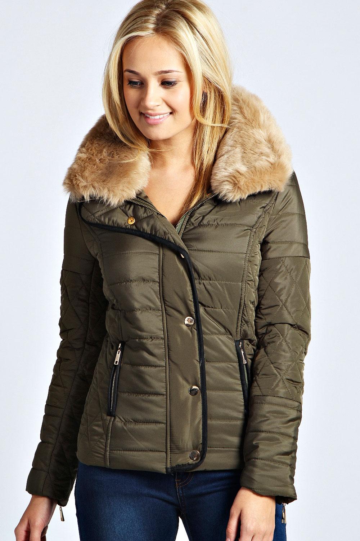 Ladies khaki quilted jacket – Modern fashion jacket photo blog