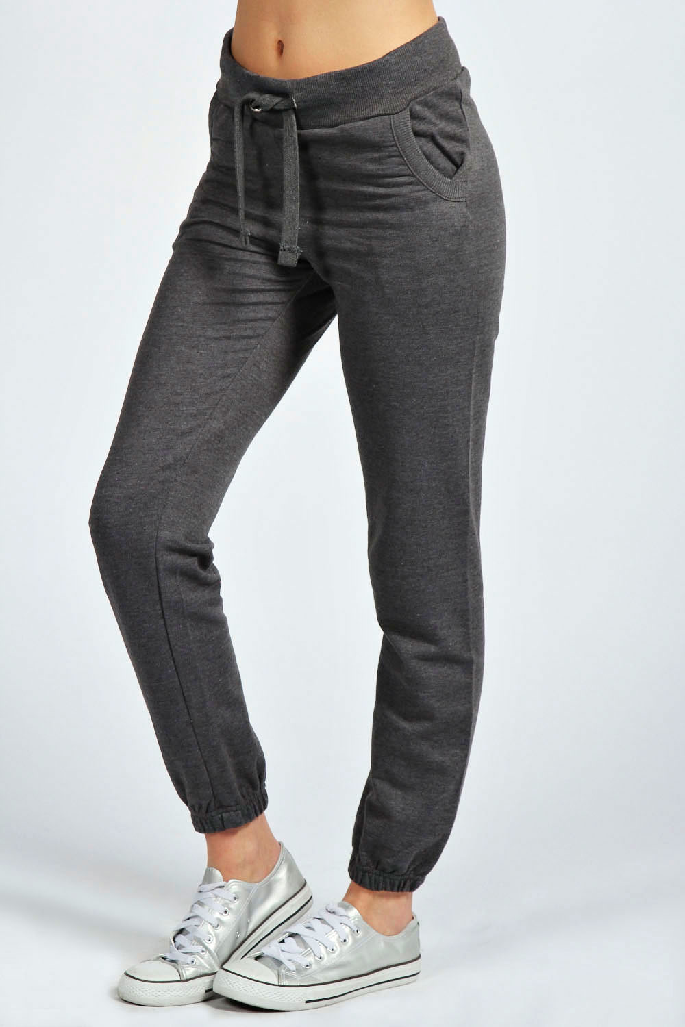 Boohoo-Womens-Ladies-Philly-Two-Pocket-Draw-Cord-Joggers