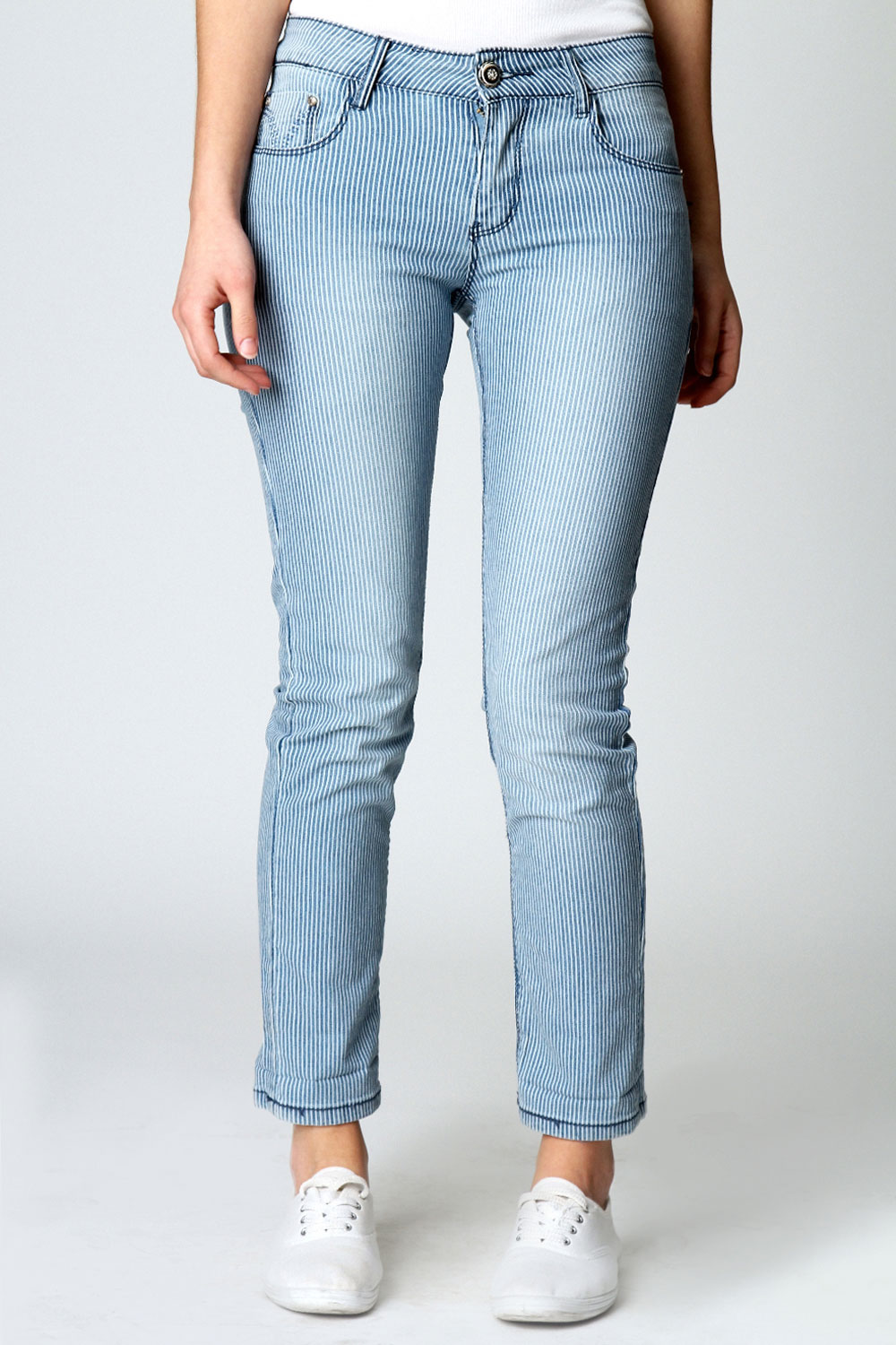 Boohoo-Katie-Cropped-Striped-Skinny-Jeans-in-Blue-White
