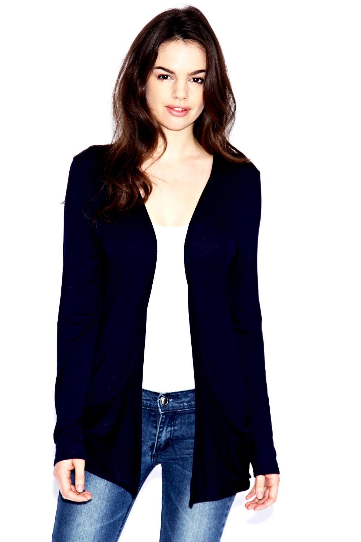Boohoo Womens Ladies Kate Pocket Jersey Longline Fit Cardigan Bnwt ...