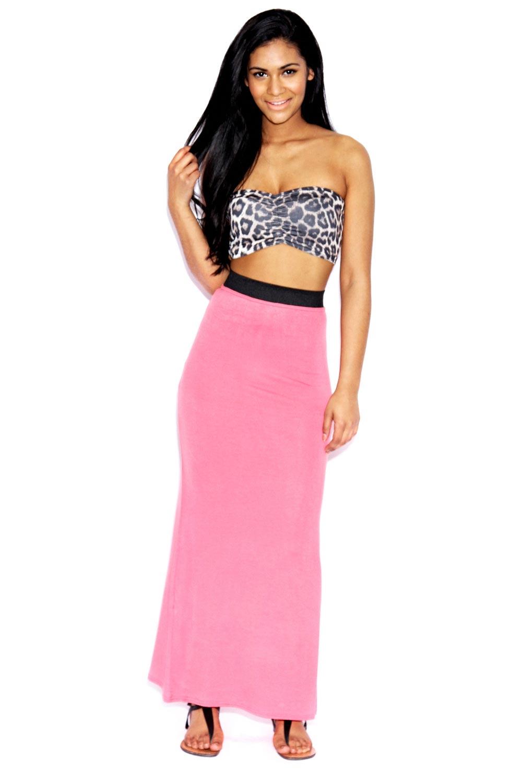 boohoo narinda jersey high rise maxi casual skirt bnwt ebay