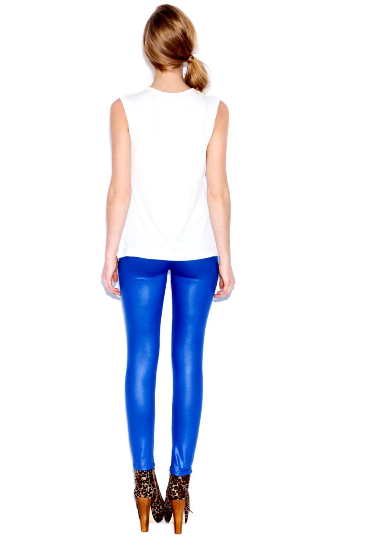 Boohoo-Alice-Wet-Look-Effect-High-Shine-Colour-Block-Leggings-in-Blue