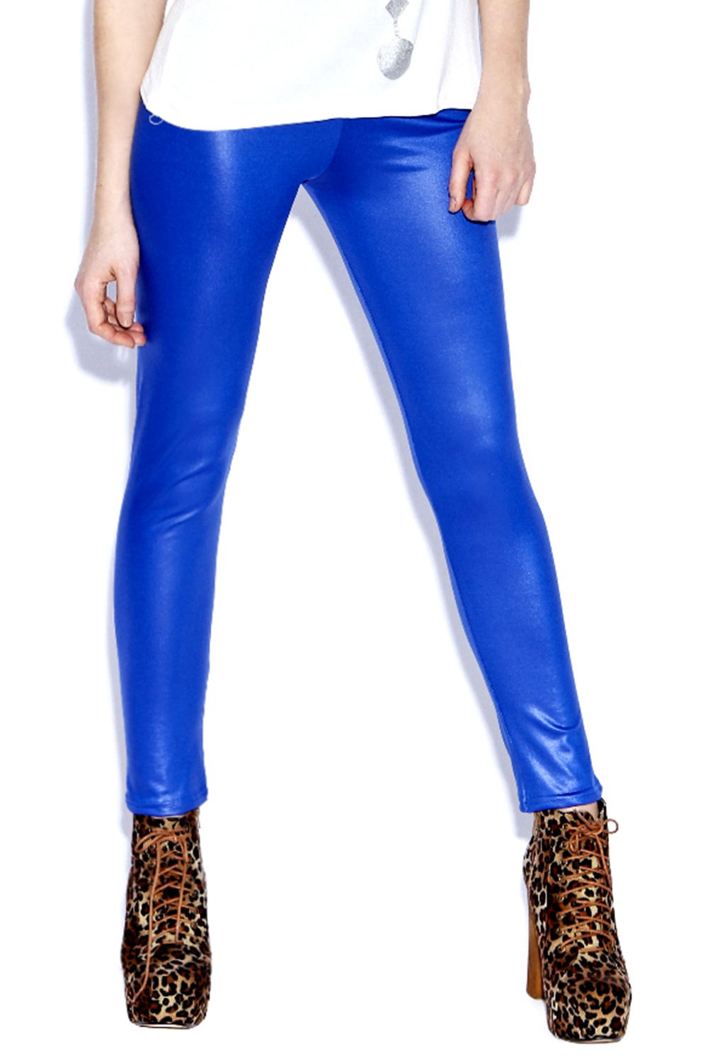 Boohoo-Alice-Wet-Look-Effect-High-Shine-Colour-Block-Leggings-in-Blue
