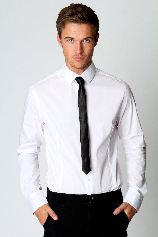 boohoo mens smart sleeve collared shirt and tie ebay
