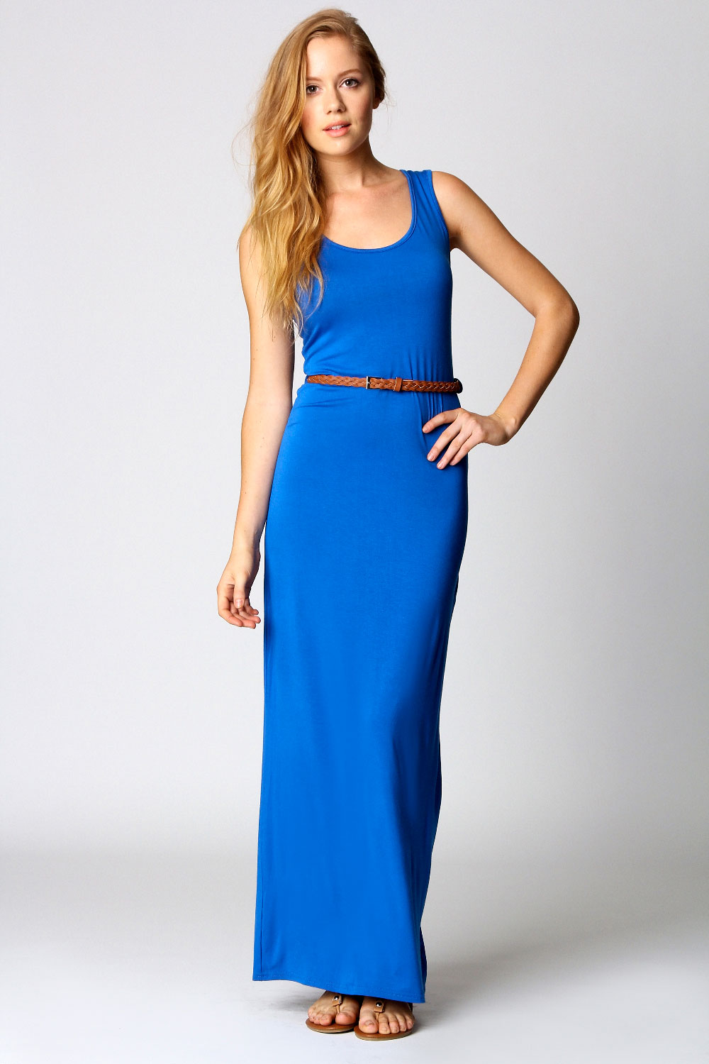 Boohoo-Womens-Ladies-Laura-Racer-Back-Maxi-Dress