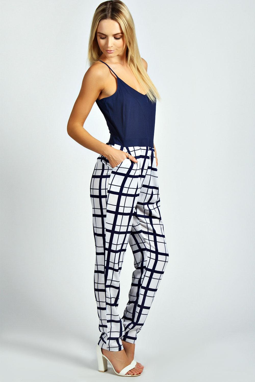 Womens Clubwear Playsuit Bodysuit Party Jumpsuit Romper Striped Long Trousers.