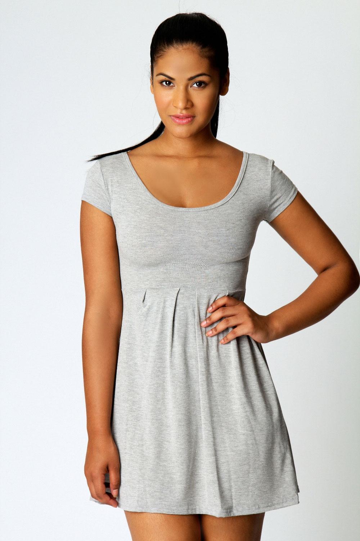 Boohoo-Womens-Ladies-Claudia-Jersey-Cap-Sleeve-Skater-Dress