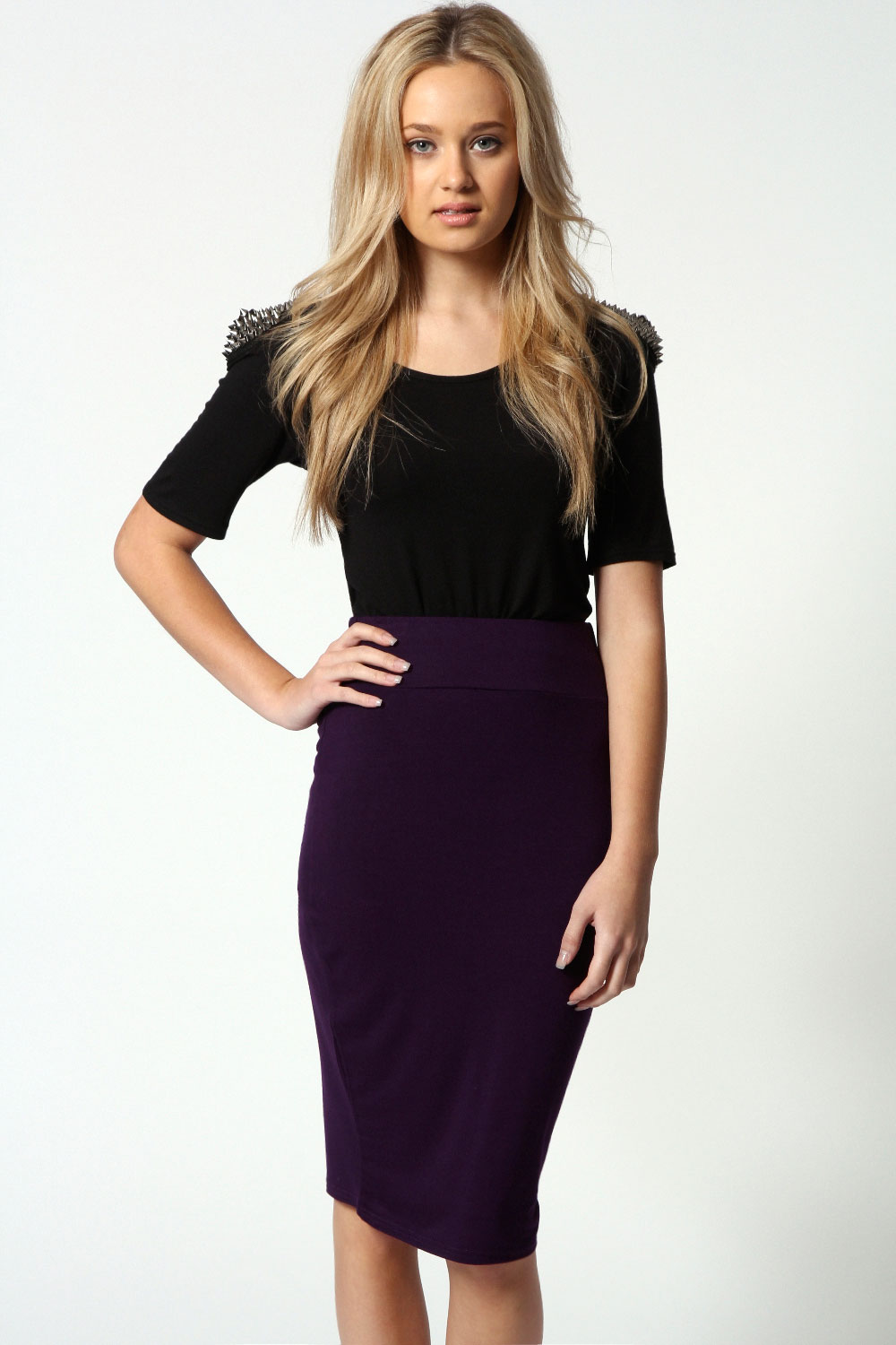 Boohoo Maddy Midi Length Viscose Tube Pencil Skirt | eBay