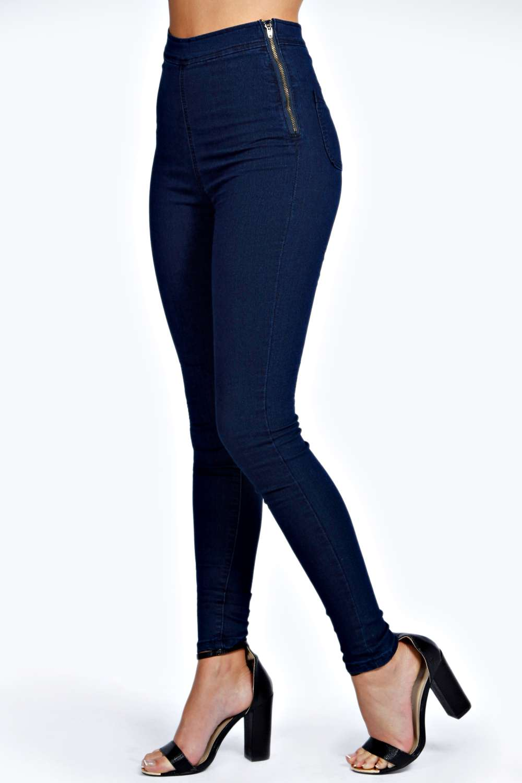 high waisted indigo jeans jeans am. Black Bedroom Furniture Sets. Home Design Ideas