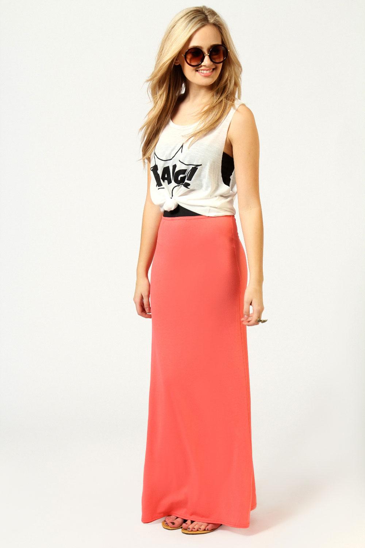 Boohoo Narin Jersey Full Length Maxi Skirt | eBay