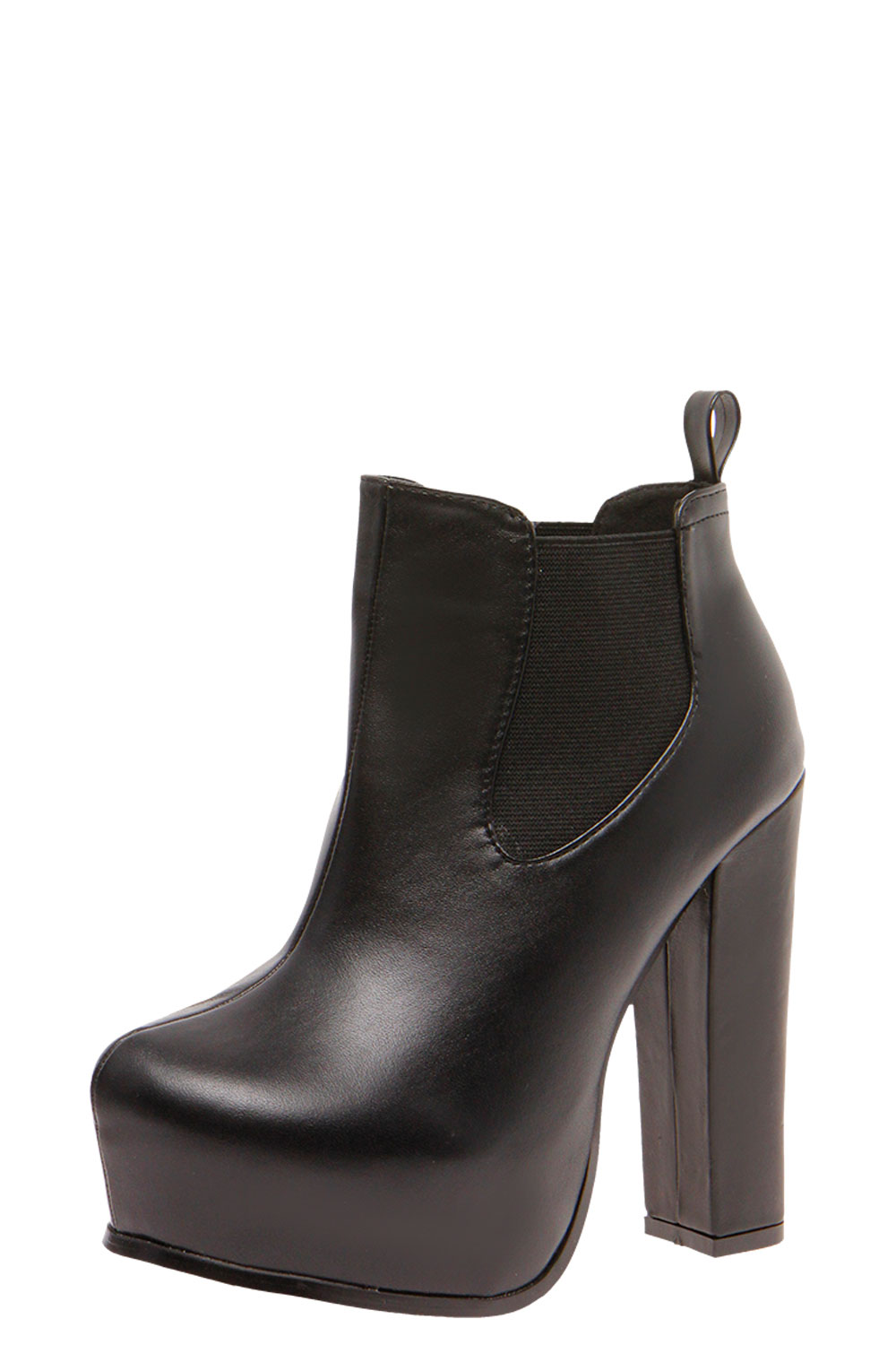 boohoo womens faiza black platform chelsea boot in