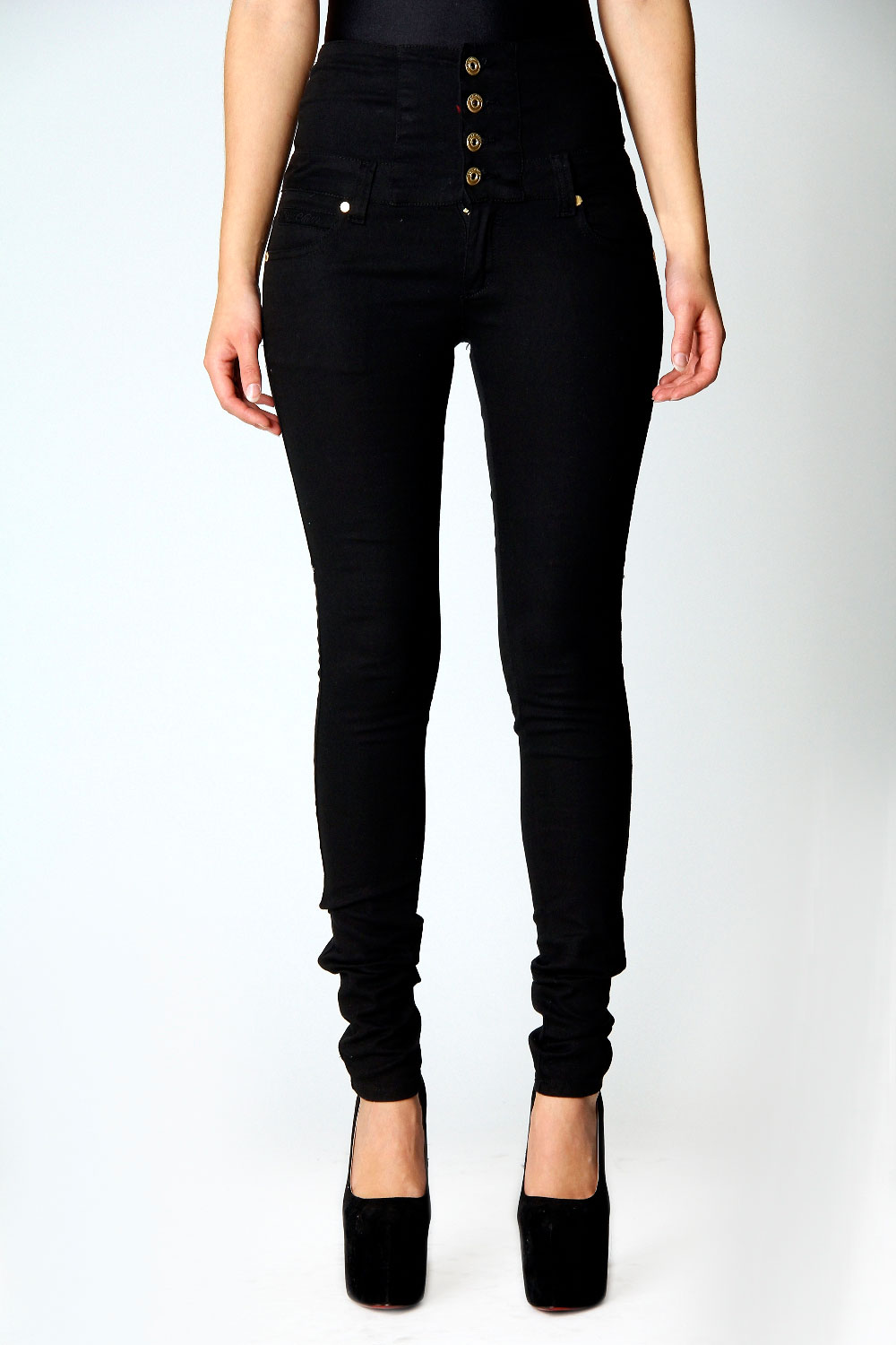 boohoo penny 98 cotton high waisted jeans ebay. Black Bedroom Furniture Sets. Home Design Ideas