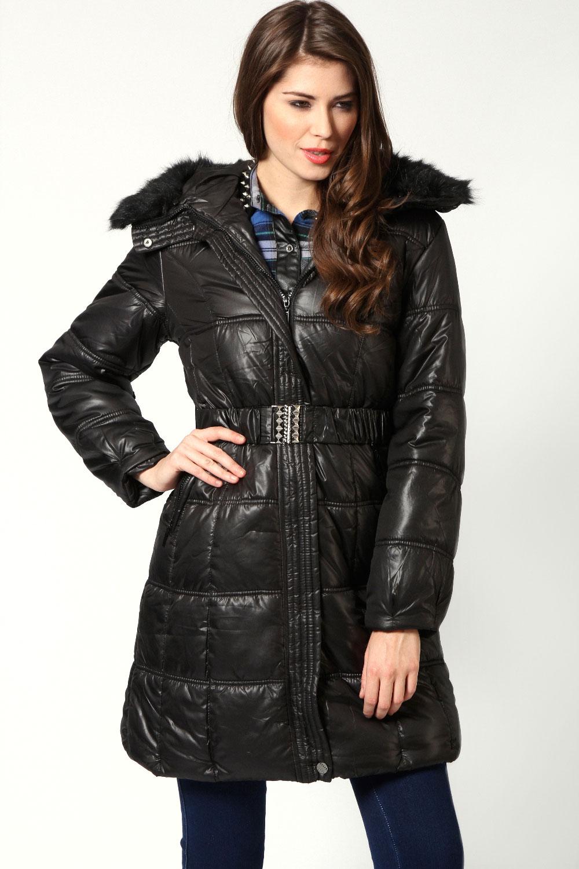 Fashion Women's Coat 2017 | Coat See - Part 730 : long black quilted coat - Adamdwight.com