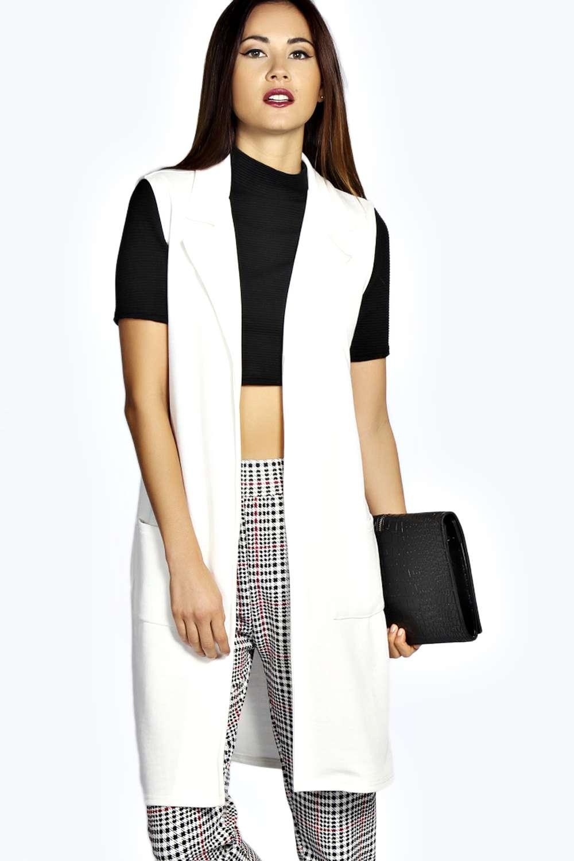 Women Sleeveless Hooded Pocket Cotton Warm Down Coat