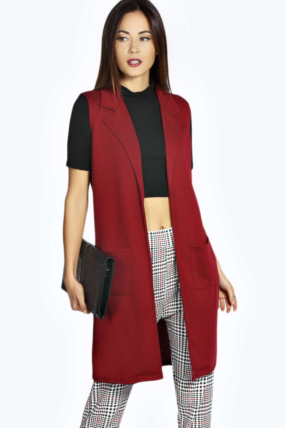Sleeveless coat women
