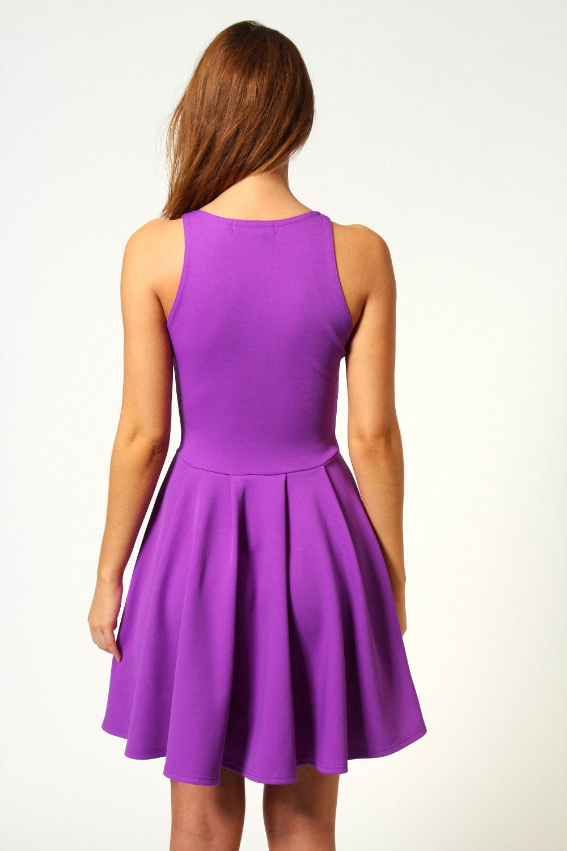 Boohoo Daisy Cut Out Front Sleeveless Skater Dress | eBay