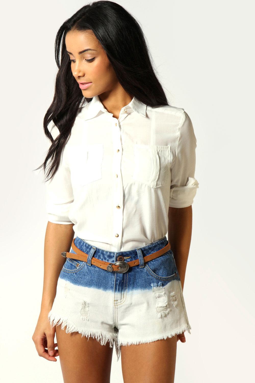 Boohoo-Calista-Dip-Dye-Denim-Hotpants-In-White