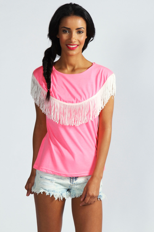 Boohoo-Freya-Cap-Sleeve-Contrast-Tassel-Detail-T-Shirt
