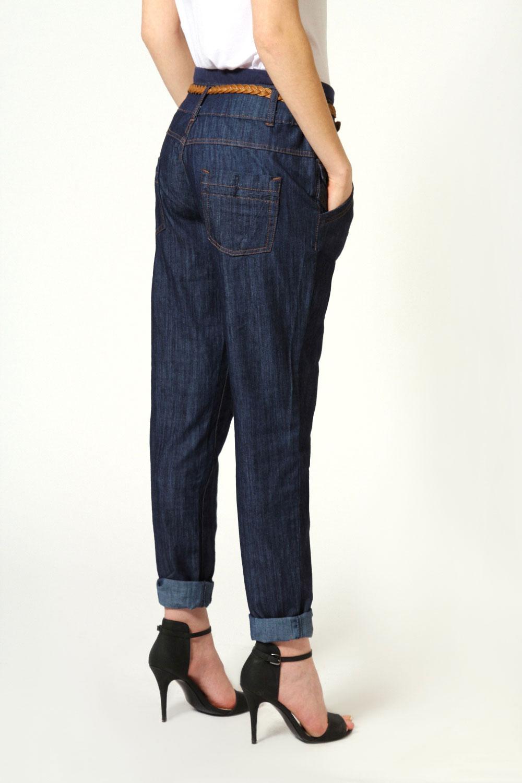 boohoo isadora boyfriend passform jeans 100 baumwolle. Black Bedroom Furniture Sets. Home Design Ideas