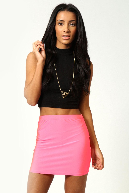Boohoo Lara Disco Spandex Mini Skirt | eBay