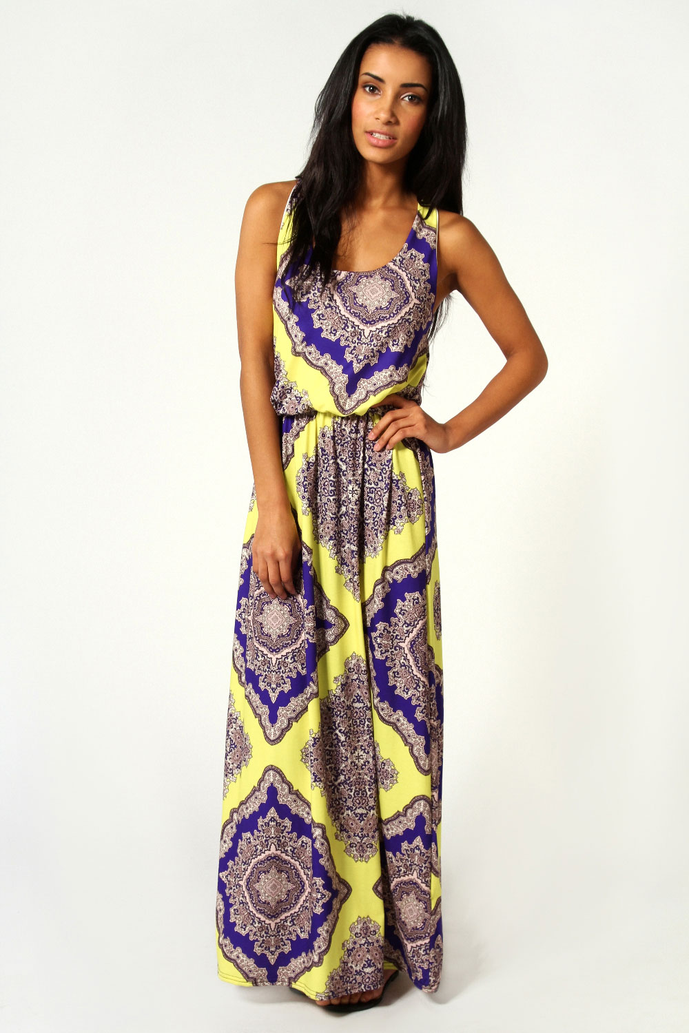 Boohoo-Rosie-Neon-Paisley-Twist-Back-Maxi-Dress-In-Multi