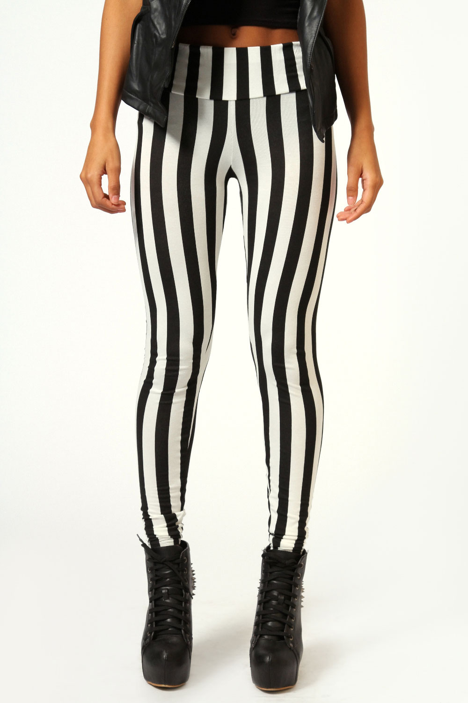 Boohoo-Felicity-Monochrome-Stripe-High-Waist-Leggings-In-Multi