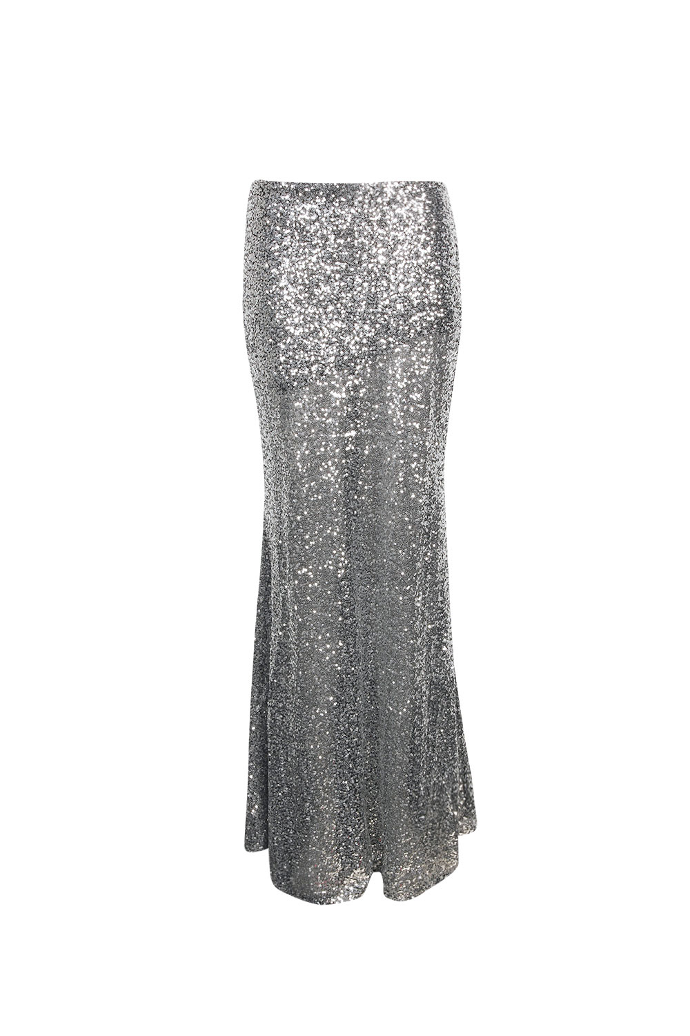 Boohoo Madeline All Over Sequin Maxi Skirt In Silver | eBay