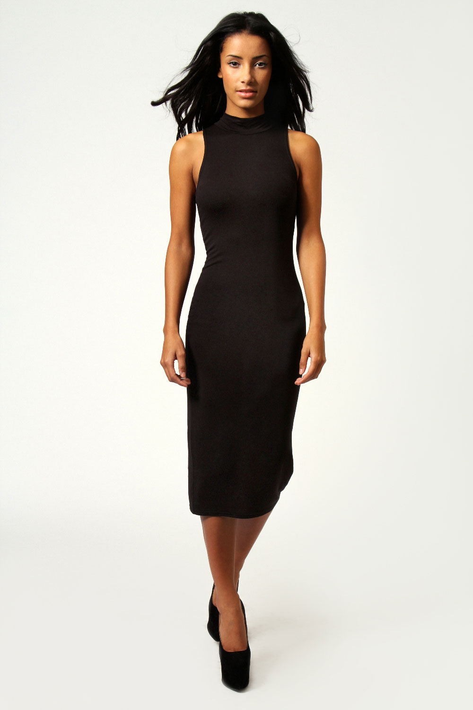 801a195f85ab Boohoo-Billie-High-Neck-Sleeveless-Midi-Bodycon-Dress thumbnail