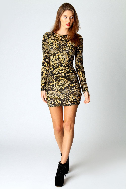long sleeve bodycon dress xl « Bella Forte Glass Studio