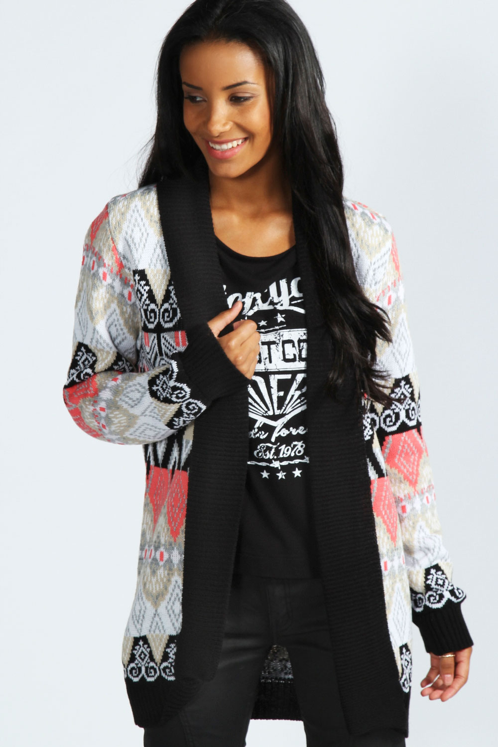 Boohoo-Alyssa-Patterned-Shawl-Cardigan-In-Multi
