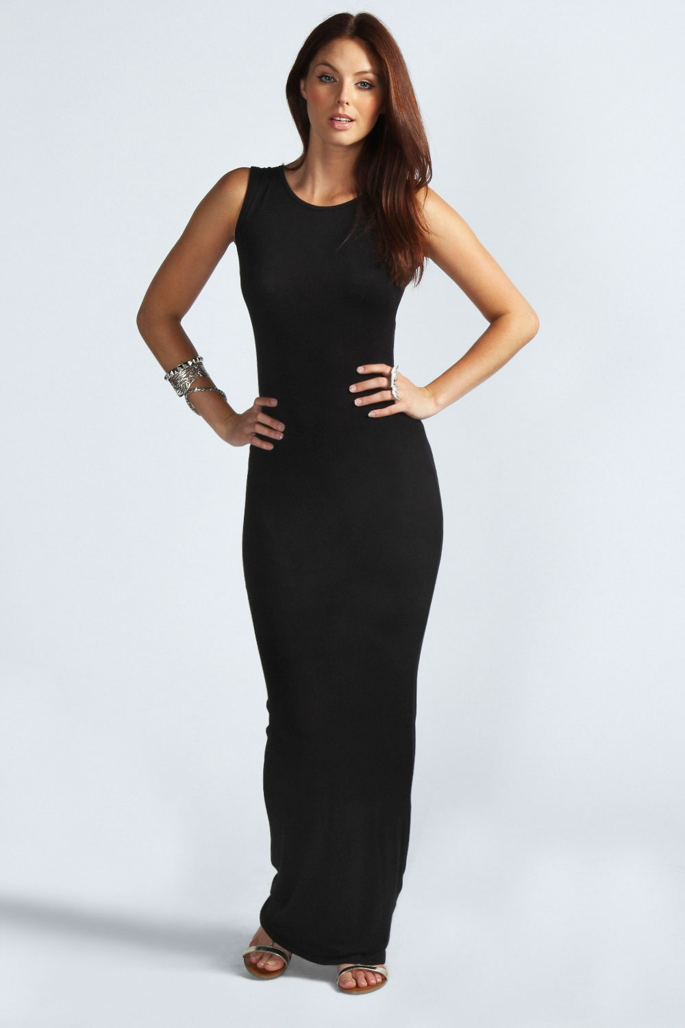 Long Black Sleeveless Maxi Dress Photo Album - Reikian