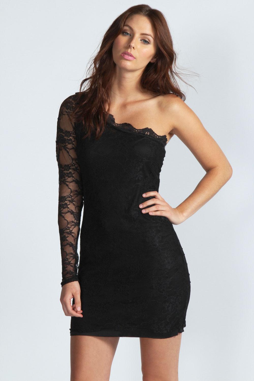 Купить Платье С Одним Рукавом