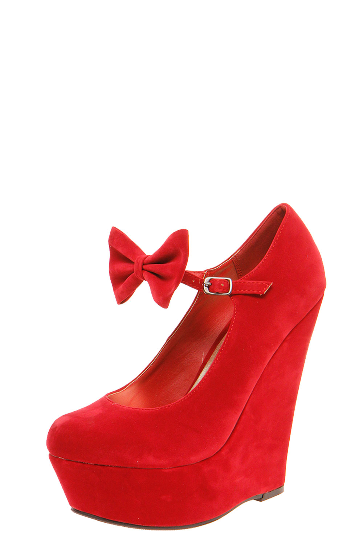 boohoo womens joanna bow trim buckle wedge shoes ebay