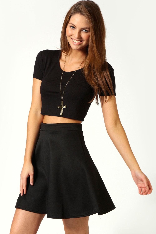 Boohoo Jessica Skater Skirt | eBay