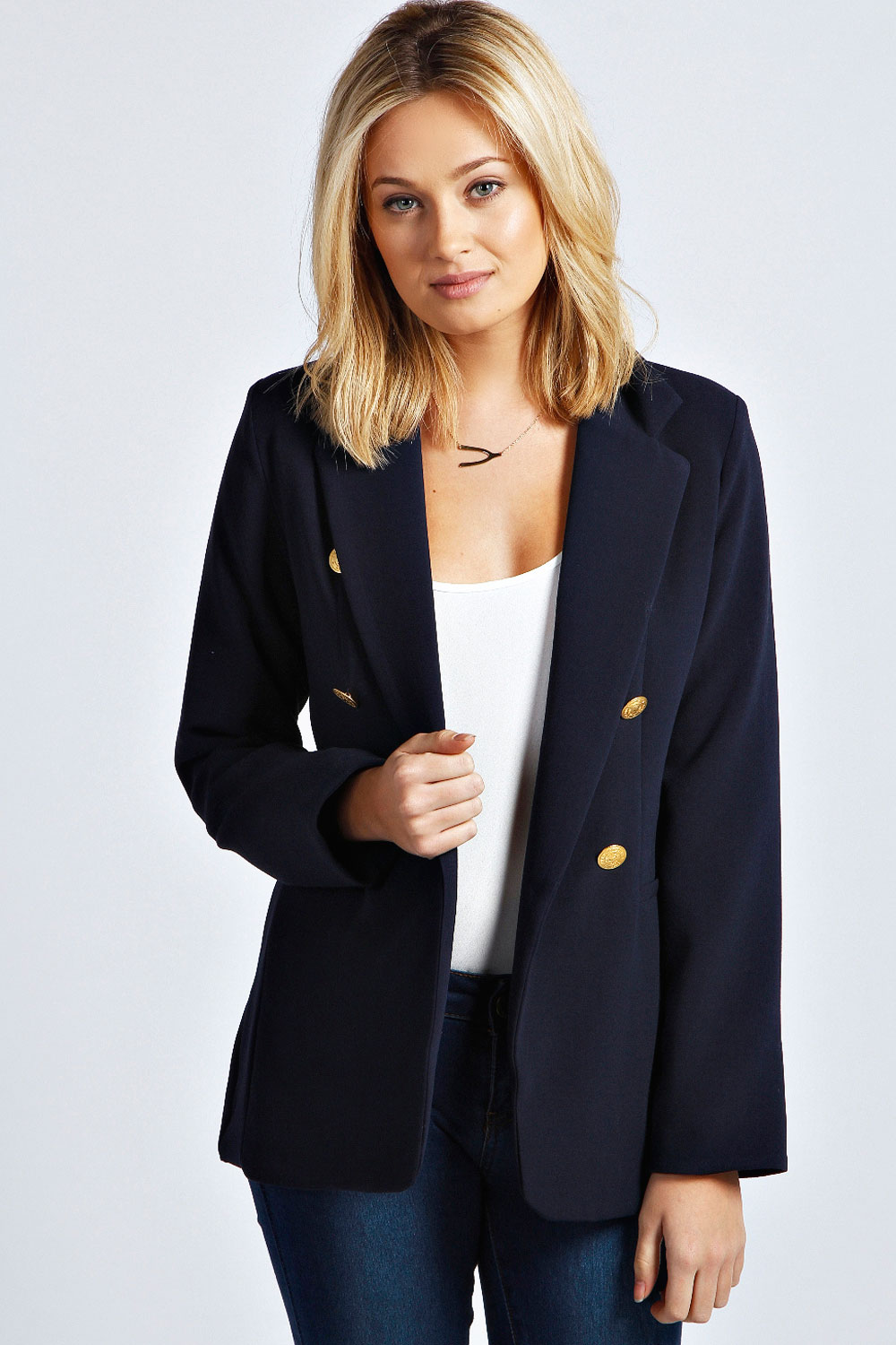 Zxzy Women Long Sleeve Blazer Open Front Cardigan Cropped Jacket Solid Color Casual Office Blazer. Sold by Nlife. $ $ Nine West Women's Hardware Blazer. Sold by Rennde. $ $ Tahari ASL Women's Denim Blazer. Sold by Rennde. $ $ - $ Kasper Women's Floral-Print Blazer.