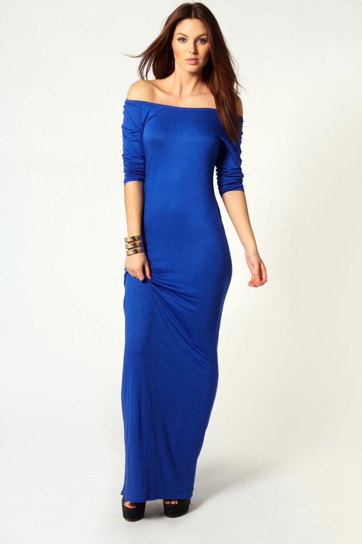 Off Shoulder Maxi Dress Long Sleeves U2013 Fashion Dresses